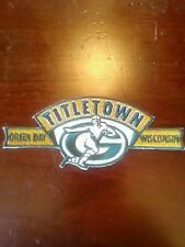 ....,,  ...  New,sharp... Steal A Deal. Famous Titletown Patch Of The Packers