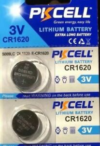 CR1620 PKCELL 1620 LITHIUM BATTERIES (2 piece) 3V watch New Authorize USA Seller