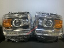LED DRL Headlight 2014-2019 GMC Sierra 1500 2500 HD Pair Driver and Passenger