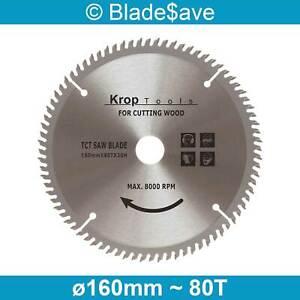 Mac Allister Circular Saw Blade Fine Cut TCT 160mm x 16/20mm x 80T by KROP