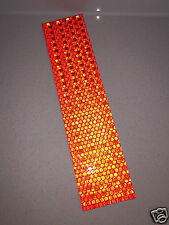 Hi-Vis Red Adhesive Reflective Caution Safety Tape Strip 50mm x 200mm