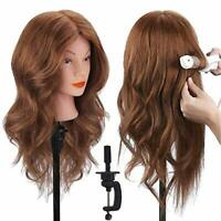 TopDirect Training Head 18inch 100% Real Human Hair Cosmetology Hairdressing