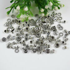 Metal Tibetan silver Charm Mixed Size Spacer Beads Loose Jewelry Finding DIY