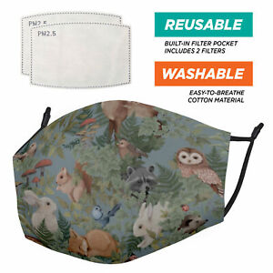 The Full Animal Pattern Range Animal Pattern - Face Masks - 2 Filters Included