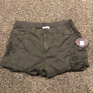 Knox Rose Womens Size XL Green Rayon Shorts Nwt A31