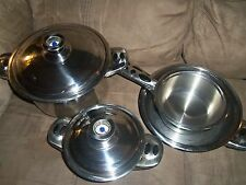 MILANO Inox Stainless Steel Cookware with Temperature Lid Set of 6 Pieces EC
