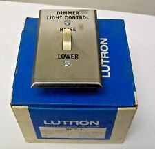 Lutron RCS-1 Remote Control Raise / Lower Switch with Stainless Plate New in Box