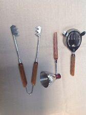 3 Pc Set Vintage Bar Tools Chrome Bakelite Glo Hill Canada Mid Century Modern