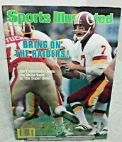 Sports Illustrated January 1984 Joe Theismann Washington Redskins Label OFF