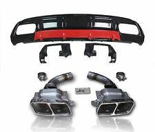 A45 AMG Diffusor & Endrohre Kit For A Klasse W176 Styling Diffuser Tailpipes -01