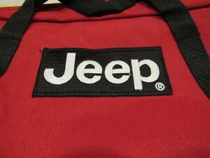JEEP Laptop Red bag with  jeep logo with zipper. New