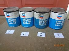 Vintage Chevron Delo 100, Motor Oil, in full 1 Gal cans, sold individually