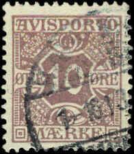 Denmark Scott #P4v Used Newspaper Stamp  Light Lilac Facit T14b