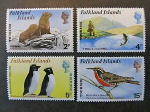 FALKLAND ISLANDS, SC# 227-230, TOURISM SET (1974) MINT