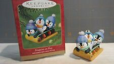 "2001 Hallmark QX8982 ""Penguins at Play"" ornament"
