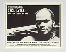 Cecile Lytle 1978 Nov 19 Van Duzer Theatre Humboldt State University Ca Poster