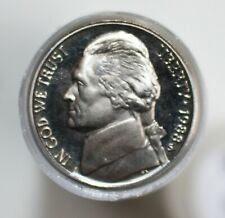1988 Jefferson Nickels Roll of 40 5c US Proof Copper Nickel Coins Five Cents