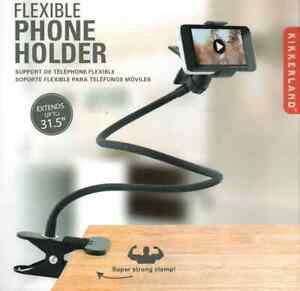 Kikkerland Flexible Gooseneck Mobile Phone Holder Desktop Car Stand Accessory
