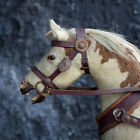 A Rare Museum 19th Century Horse and Wicker Childs Push Along Carriage