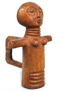 Art Africain - Authentique Poupée de Fécondité Ashanti - Pour Ceinture - 10 Cms