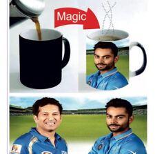 Kohli Sachin Indian Cricket Lover Mugs Cups Black  Colour Changing Mug Gift 11oz