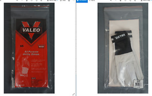 Valeo XS all purpose utility gloves white goatskin leather nylon washable NWT