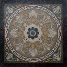 "40""x 40"" Handmade Geometrical Marble Mosaic Floor Inlay Art Stone Tile Decor"
