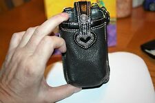 Brighton all Leather cc /cell phone holder no strap NWT