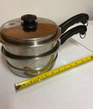 Saladmaster 3 Pcs Cooking Pan Double Boiler Strainer Insert plus Vapo-Lid