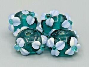 4 pcs Glass Murano Lampwork Beads - B-A561