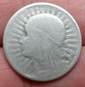 2 Złotych Queen Jadwiga 1933  Silver Coin