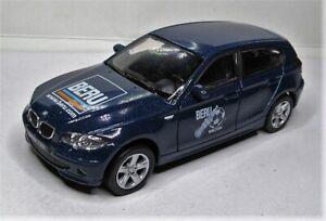 Welly 1:34 BMW 120i OVP dunkelblau 1er - Beru Zündkerzen WM 2006