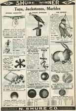 1924 N. Shure Co. ad for marbles