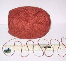 100g Ball Rust Brown 4 Ply British Chenille Knitting Wool Yarn Soft