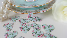 100 Green Vintage Style Shabby Chic Pink Rose Wedding Table Confetti Decorations