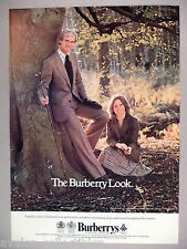 Burberrys PRINT AD - 1977 ~~ English Country Clothing, Somerley, Burberry Look