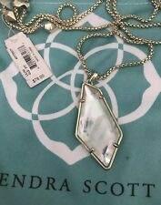 New Kendra Scott Lilith Long Pendant Necklace In White Mother Of Pearl $78.00