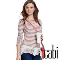 CAbi Skipper Tee High Low Striped Women's Small S (A16)