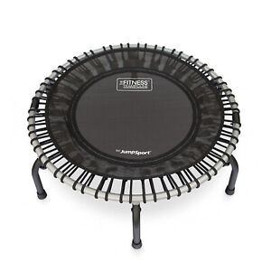 JumpSport 350f Indoor Lightweight 39-Inch Folding Fitness Trampoline, Black