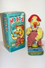 RARE 1950's LINEMAR HOOPY THE FISHING DUCK BATTERY OPERATED TIN TOY JAPAN MINT