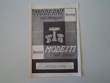 advertising Pubblicità 1935 SANITARI STANDARD