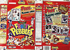 2001 Fruity Pebbles Cereal Box s321