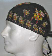 Bloody Peace Signs Roses Doo Rag Headwrap Biker Bandanna Skull Cap Durag Black