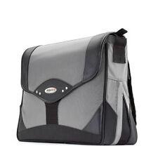 "Mobile Edge Premium Laptop Messenger Bag 15.4"" Black w/Silver Trim MEMP02"