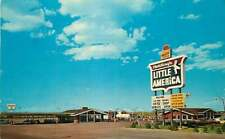 Postcard Covey's Little America Gas Station Lincoln Hwy 30 Granger, Wyoming 7