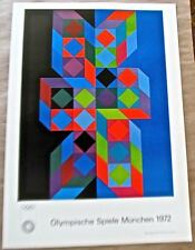 Victor Vasarely Poster for 1972 Olympic Games Offset Lithograph 16x11 pp
