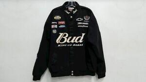 Budweiser Dale Earnhardt Chase Authentics Nascar Denim Racing Jacket Size 3XL