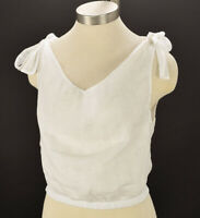 SIR THE LABEL Womens White TAYLOR TIE Linen Cropped Top 0 XS NWT