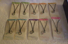 Lot 10 Circles Strength Sterling Silver Glass Bead Necklace Cancer Leukemia New
