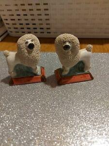 Victorian miniture Staffordshire confetti poodles